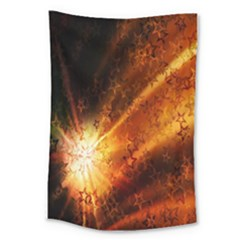 Star Sky Graphic Night Background Large Tapestry