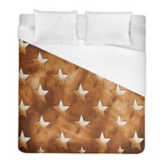 Stars Brown Background Shiny Duvet Cover (full/ Double Size) by Sapixe