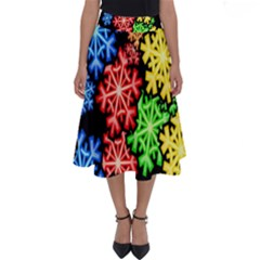 Wallpaper Background Abstract Perfect Length Midi Skirt