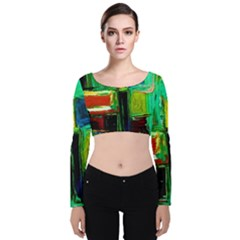 Marakesh 5 Velvet Crop Top by bestdesignintheworld