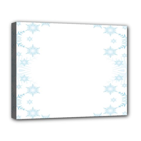 The Background Snow Snowflakes Deluxe Canvas 20  X 16   by Sapixe