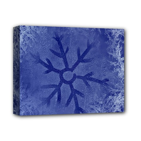Winter Hardest Frost Cold Deluxe Canvas 14  X 11  by Sapixe