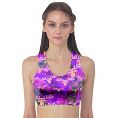 Watercolour Paint Dripping Ink Sports Bra