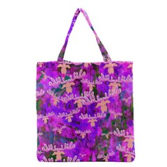 Watercolour Paint Dripping Ink Grocery Tote Bag by Sapixe