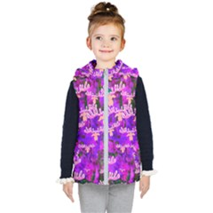 Watercolour Paint Dripping Ink Kid s Hooded Puffer Vest