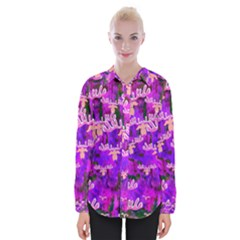 Watercolour Paint Dripping Ink Womens Long Sleeve Shirt by Sapixe