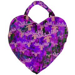 Watercolour Paint Dripping Ink Giant Heart Shaped Tote by Sapixe