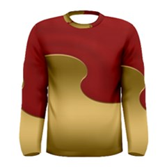 Background Banner Festive Wave Men s Long Sleeve Tee by Sapixe