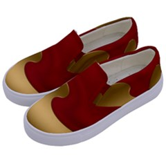 Background Banner Festive Wave Kids  Canvas Slip Ons by Sapixe