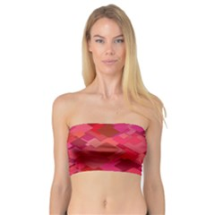 Red Background Pattern Square Bandeau Top