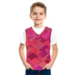 Red Background Pattern Square Kids  Sportswear