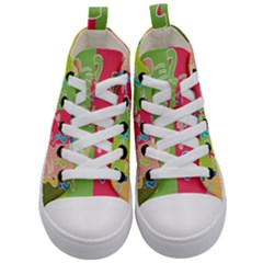 Question Mark Problems Clouds Kid s Mid Top Canvas Sneakers