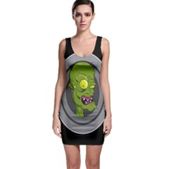 Zombie Pictured Illustration Bodycon Dress