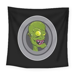 Zombie Pictured Illustration Square Tapestry (large)