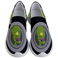 Zombie Pictured Illustration Women s Lightweight Slip Ons