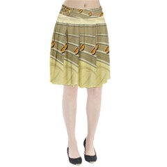 Music Staves Clef Background Image Pleated Skirt