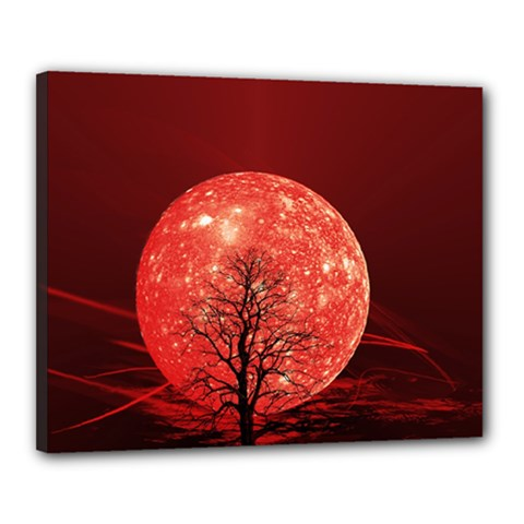 The Background Red Moon Wallpaper Canvas 20  X 16