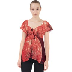 The Background Red Moon Wallpaper Lace Front Dolly Top