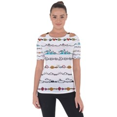 Decoration Element Style Pattern Short Sleeve Top