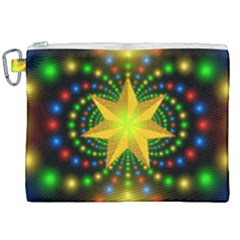 Christmas Star Fractal Symmetry Canvas Cosmetic Bag (xxl) by Sapixe