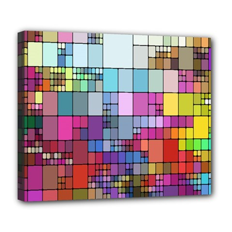Color Abstract Visualization Deluxe Canvas 24  X 20   by Sapixe