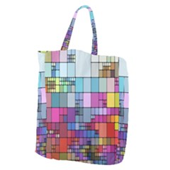 Color Abstract Visualization Giant Grocery Zipper Tote