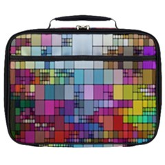 Color Abstract Visualization Full Print Lunch Bag by Sapixe
