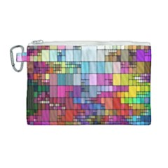 Color Abstract Visualization Canvas Cosmetic Bag (large) by Sapixe