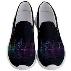 City Night Skyscrapers Men s Lightweight Slip Ons
