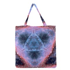 Sacred Geometry Mandelbrot Fractal Grocery Tote Bag by Sapixe