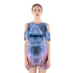 Sacred Geometry Mandelbrot Fractal Shoulder Cutout One Piece by Sapixe
