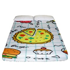 Colorful Doodle Soda Cartoon Set Fitted Sheet (king Size) by Sapixe