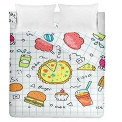Colorful Doodle Soda Cartoon Set Duvet Cover Double Side (queen Size) by Sapixe