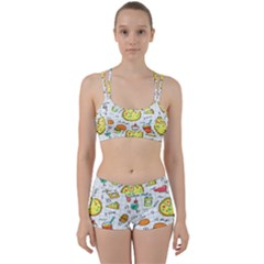 Colorful Doodle Soda Cartoon Set Women s Sports Set