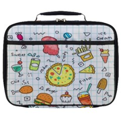 Colorful Doodle Soda Cartoon Set Full Print Lunch Bag by Sapixe