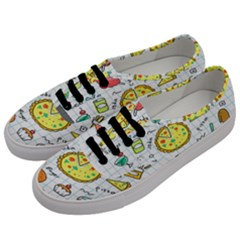 Colorful Doodle Soda Cartoon Set Men s Classic Low Top Sneakers by Sapixe