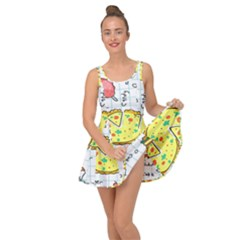 Colorful Doodle Soda Cartoon Set Inside Out Dress