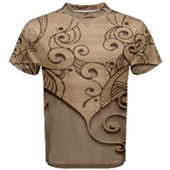 Wood Sculpt Carved Background Men s Cotton Tee