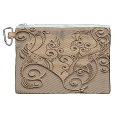 Wood Sculpt Carved Background Canvas Cosmetic Bag (xl)