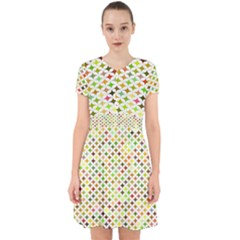 Background Multicolored Star Adorable In Chiffon Dress