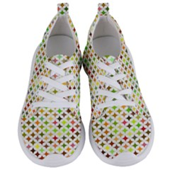 Background Multicolored Star Women s Lightweight Sports Shoes