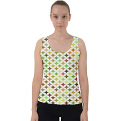 Background Multicolored Star Velvet Tank Top by Sapixe