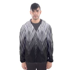 Feather Graphic Design Background Hooded Wind Breaker (men)