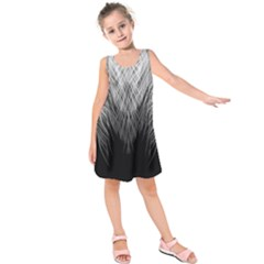 Feather Graphic Design Background Kids  Sleeveless Dress by Sapixe