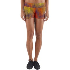 Fiesta Colorful Background Yoga Shorts by Sapixe