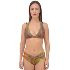 Fiesta Colorful Background Double Strap Halter Bikini Set
