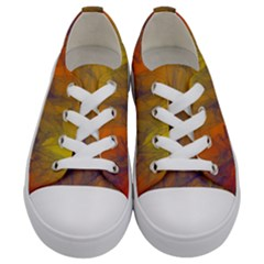 Fiesta Colorful Background Kids  Low Top Canvas Sneakers