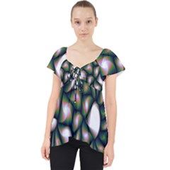 Fuzzy Abstract Art Urban Fragments Lace Front Dolly Top