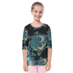 Fractal Art Artwork Digital Art Kids  Quarter Sleeve Raglan Tee