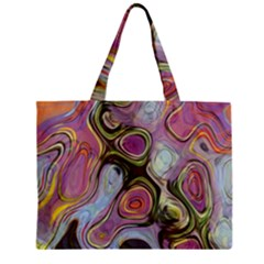 Retro Background Colorful Hippie Zipper Mini Tote Bag by Sapixe